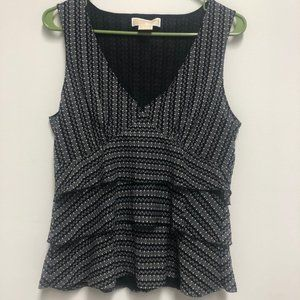 Michael Michael Kors ruffled tiere tank blouse (L)